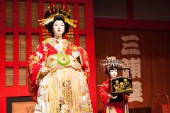 Ejecutantes japoneses del kabuki Imagen de archivo libre de regalías