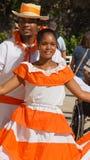 Ejecutantes locales de la calle, La Romana, República Dominicana Imagen de archivo libre de regalías