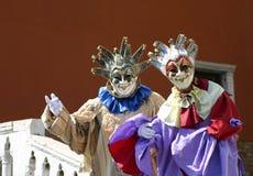 Ejecutantes venecianos de la calle Imagen de archivo libre de regalías