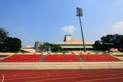 Ejecute el circuito de carreras en estadio del deporte Fotos de archivo libres de regalías