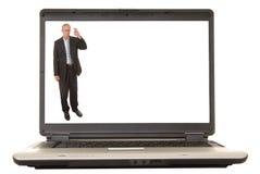 Ejecutivo 'senior' de la computadora portátil Foto de archivo