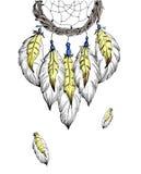 Ejemplo étnico dibujado mano ideal del bosquejo del colector stock de ilustración