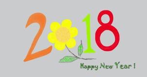 2018 ejemplo - Año Nuevo fotos de archivo libres de regalías