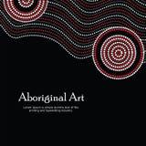 Ejemplo aborigen del arte Bandera del vector con el texto Fotos de archivo