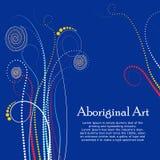 Ejemplo aborigen del arte Bandera del vector con el texto Foto de archivo libre de regalías