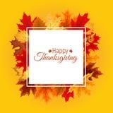 Ejemplo abstracto Autumn Happy Thanksgiving Background del vector Imagen de archivo