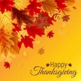 Ejemplo abstracto Autumn Happy Thanksgiving Background del vector Foto de archivo libre de regalías