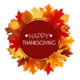 Ejemplo abstracto Autumn Happy Thanksgiving Background del vector Imagenes de archivo
