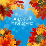 Ejemplo abstracto Autumn Happy Thanksgiving Background del vector Fotografía de archivo