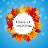Ejemplo abstracto Autumn Happy Thanksgiving Background del vector Fotos de archivo