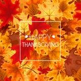 Ejemplo abstracto Autumn Happy Thanksgiving Background del vector Imágenes de archivo libres de regalías