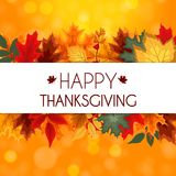 Ejemplo abstracto Autumn Happy Thanksgiving Background del vector Imagen de archivo libre de regalías