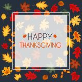 Ejemplo abstracto Autumn Happy Thanksgiving Background del vector Fotografía de archivo libre de regalías