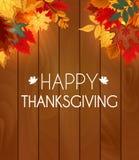 Ejemplo abstracto Autumn Happy Thanksgiving Background del vector Fotos de archivo libres de regalías