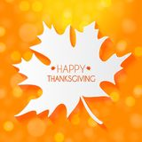 Ejemplo abstracto Autumn Happy Thanksgiving Background del vector con Autumn Leaves que cae Fotos de archivo libres de regalías