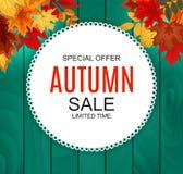 Ejemplo abstracto Autumn Sale Background del vector Imagen de archivo