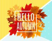 Ejemplo abstracto Autumn Sale Background del vector Foto de archivo