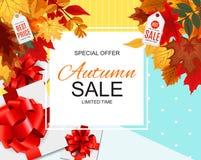 Ejemplo abstracto Autumn Sale Background del vector Imagenes de archivo