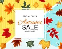 Ejemplo abstracto Autumn Sale Background del vector Fotos de archivo libres de regalías