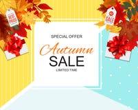 Ejemplo abstracto Autumn Sale Background del vector Fotografía de archivo libre de regalías