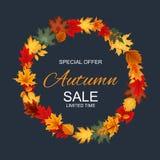 Ejemplo abstracto Autumn Sale Background del vector con caer Fotos de archivo