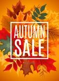 Ejemplo abstracto Autumn Sale Background del vector con caer Fotografía de archivo