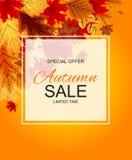 Ejemplo abstracto Autumn Sale Background del vector con caer Imagenes de archivo