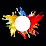 Ejemplo abstracto colorido eps10 del vector del diseño del chapoteo ilustración del vector