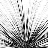 Ejemplo abstracto con la parte radial, irradiando líneas al azar Irreg ilustración del vector