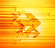 Ejemplo abstracto con las flechas y lugar para el texto. Imagenes de archivo