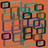 Ejemplo abstracto con las formas 3d imágenes de archivo libres de regalías