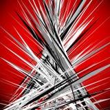 Ejemplo abstracto con las líneas sucias dinámicas PA rojo texturizado ilustración del vector
