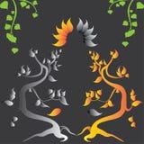 Ejemplo abstracto con los árboles viejos Imagenes de archivo