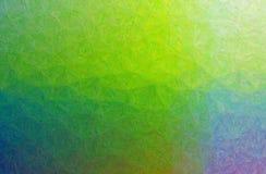 Ejemplo abstracto de Impasto verde, azul y púrpura con el fondo de los movimientos del pequeño cepillo imágenes de archivo libres de regalías