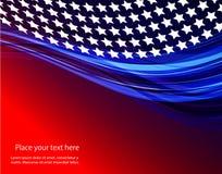 Ejemplo abstracto de la bandera americana ilustración del vector