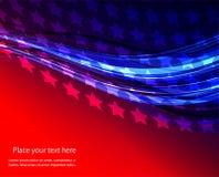 Ejemplo abstracto de la bandera americana Foto de archivo