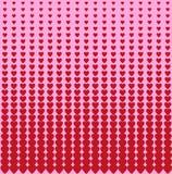 Ejemplo abstracto de tonos medios en forma de corazón ilustración del vector