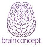 Ejemplo abstracto de un cerebro Fotos de archivo libres de regalías