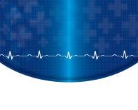 Ejemplo abstracto del cardiograma de los golpes de corazón Foto de archivo libre de regalías