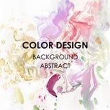 Ejemplo abstracto del cartel del diseño de la textura de la pintura de la acuarela del fondo del arte Fotografía de archivo libre de regalías