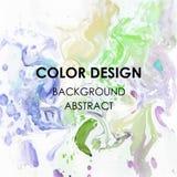 Ejemplo abstracto del cartel del diseño de la textura de la pintura de la acuarela del fondo del arte Foto de archivo libre de regalías