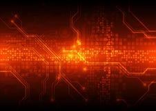 Ejemplo abstracto del fondo de la placa de circuito del vector Imagenes de archivo