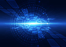 Ejemplo abstracto del fondo de la tecnología de Internet de la velocidad del vector hola stock de ilustración