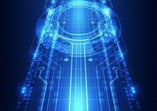 Ejemplo abstracto del fondo de la tecnología de Internet de la velocidad del vector hola Fotografía de archivo libre de regalías