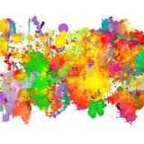 Ejemplo abstracto del fondo del chapoteo del color Foto de archivo libre de regalías