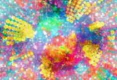 Ejemplo abstracto del fondo del chapoteo del color Imagen de archivo libre de regalías