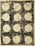 Ejemplo abstracto del grabar en madera imagen de archivo