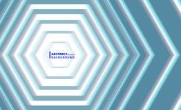 Ejemplo abstracto del hexágono Imagenes de archivo