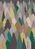 Ejemplo abstracto del modelo de los árboles Fotos de archivo libres de regalías