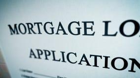 Ejemplo abstracto del préstamo de hipoteca Foto de archivo